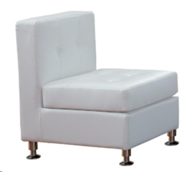 Where to find WHITE LEATHER TUFTED ARMLESS CHAIR in Atlanta