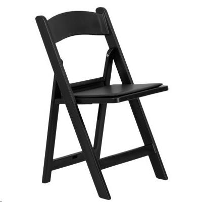 Where to find BLACK RESIN FOLDING CHAIR w  PAD  N in Atlanta