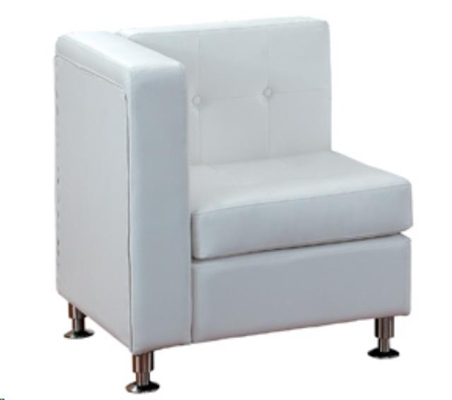 Where to find WHITE LEATHER TUFTED CORNER CHAIR in Atlanta