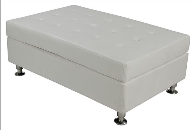 Where to find WHITE LEATHER TUFTED BENCH in Atlanta