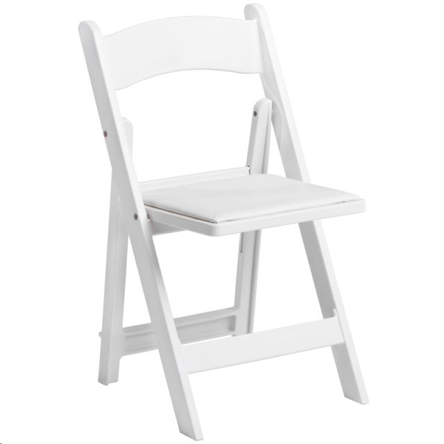 Where to find WHITE RESIN FOLDING CHAIR W  PAD in Atlanta