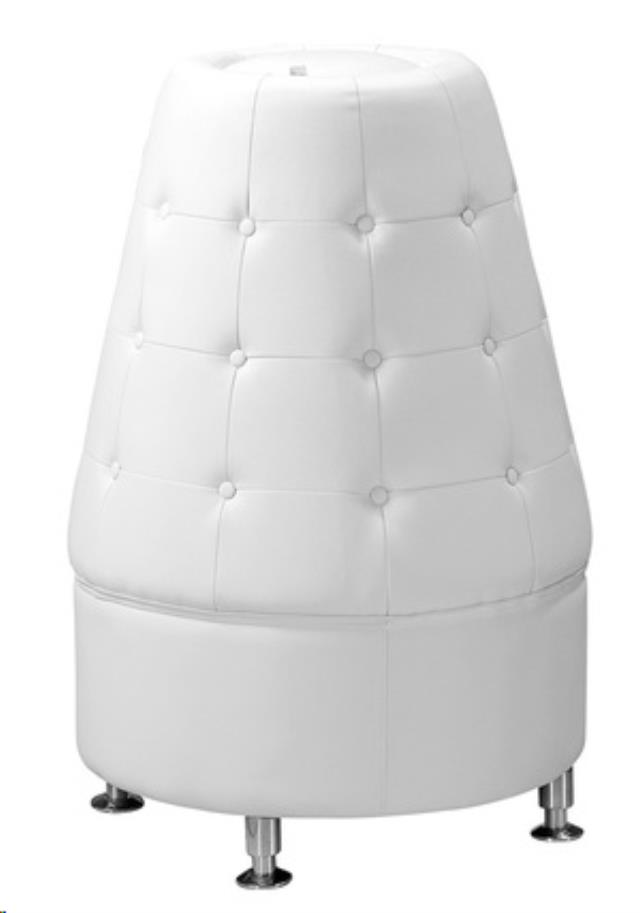 Where to find WHITE LEATHER TUFTED CONE in Atlanta