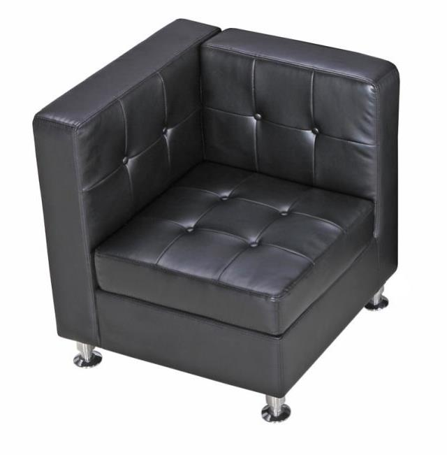 Where to find BLACK LEATHER TUFTED CORNER CHAIR in Atlanta