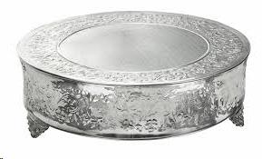 Where to find CAKE STAND, ORNATE 14  RND - SILVER in Atlanta