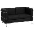 Rental store for BLACK LEATHER LOVESEAT  REGAL SERIES in Atlanta GA