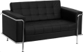 Rental store for BLACK LEATHER LOVESEAT  LESLIE SERIES in Atlanta GA