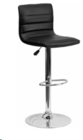Rental store for BLACK LEATHER CONTEMPORARY BARSTOOL in Atlanta GA