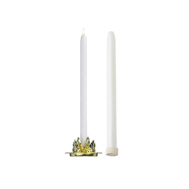 Where to find CANDELABRA, WHITE DRIPLESS CANDLE 15 in Atlanta